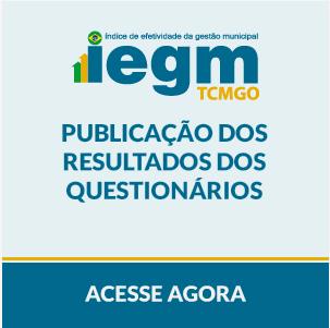 Banner Acesse os Resultados dos Questionarios do IEGM